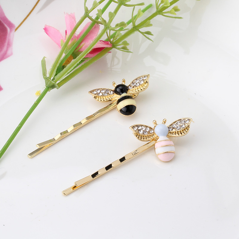 M MISM Lovely Cartoon Bees Crystal Wings Hairpins Designer Hair Clips Accessories Girls Barrettes Jewelry Women Alloy Ornaments Детская кроватка