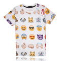 emoticons summer style tshirt casual clothing short sleeve camiseta 3d t shirt Emoji vestidos printed T-shirts swag clothes
