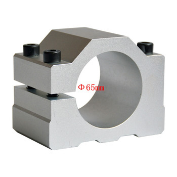 Hot sale 2020 CNC spindle clamp 65mm holder aluminum motor bracket hot sale dc 12 48v 400w aluminum alloy cnc spindle motor er11 mach3 pwm speed controller mount 3 175mm