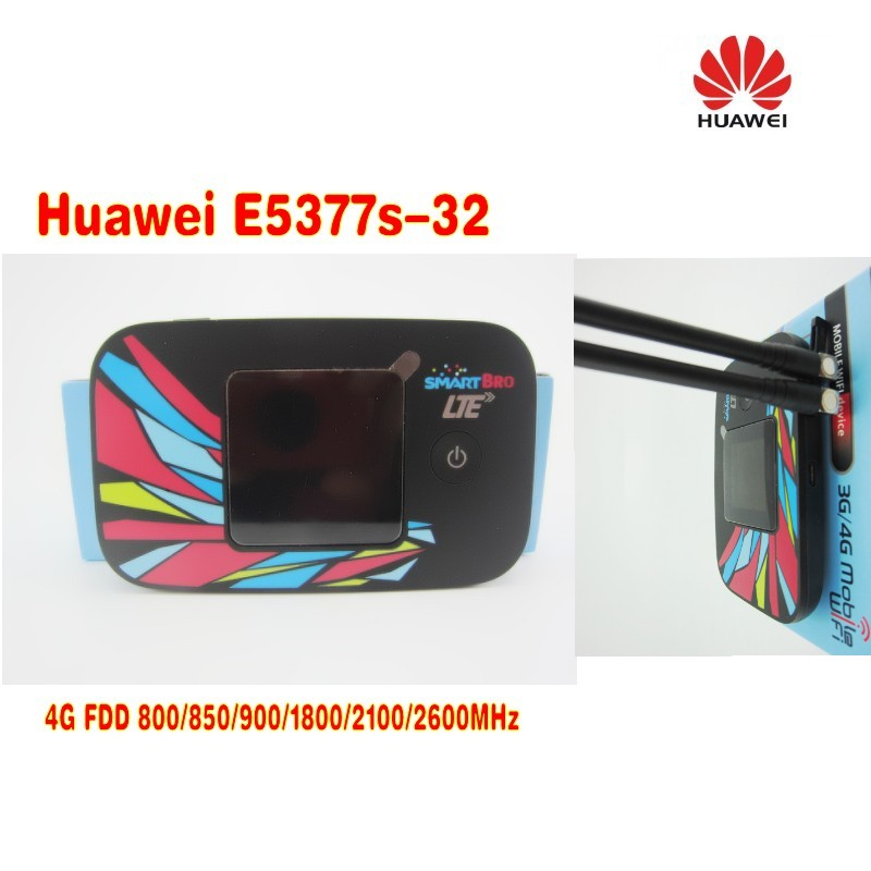 Huawei E5377S-32 150 Mbps 4G LTE & 42 Mbps 3G Mobile WiFi Hotspot PLUS 2pcs 4g antenna huawei e5377s 32 150mbps 4g lte 3g wifi mobile broadband hotspot white 4g signal amplifier antenna 49dbi ts9 for huawei e5377