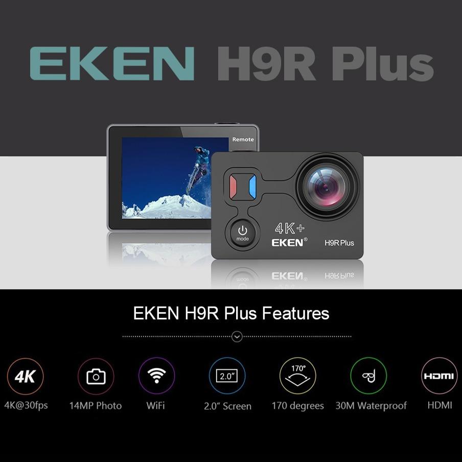 US $60 65 30% OFF EKEN H9R Plus Action Camera Ultra HD 4K A12 4k/30fps  1080p/60fps for Panasonic 34112 14MP go waterproof wifi sport Cam pro-in  Sports