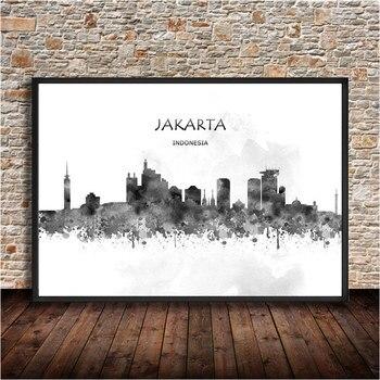 JAKARTA Poster Kraft Paper Decoration