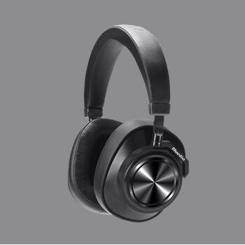 Casque Bluetooth Bluedio T7 casque sans fil à suppression de bruit actif défini par l'utilisateur pour téléphones et musique avec reconnaissance faciale