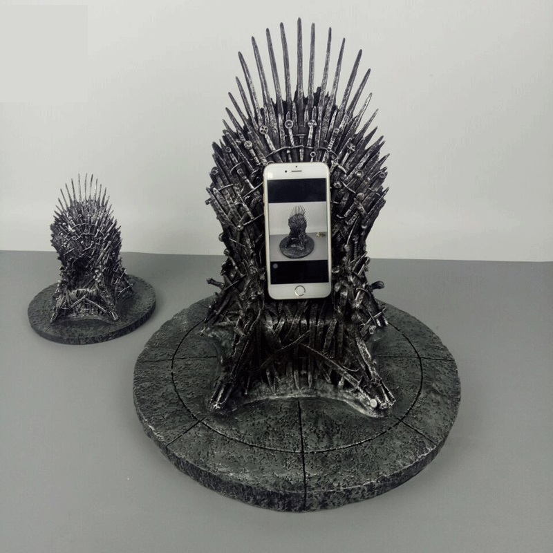 1pcs 36cm Big GAME OF THRONES Figure Collective Toys Song Of Ice And Fire Sword Chair Iron Throne Desk Model Toy Christmas Gifts
