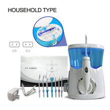 Household Dental Water Flosser Oral Irrigator Rechargeable Pick Jet For Teeth Cleaning  With 8pcs Nozzle Tips