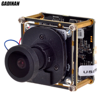 GADINAN Panoramic Camera FishEye ONVIF 360degree 3MP IP Camera Board M3881C 1 to 4 Video Cutting 5MP 1.42mm Lens with Lan Cable