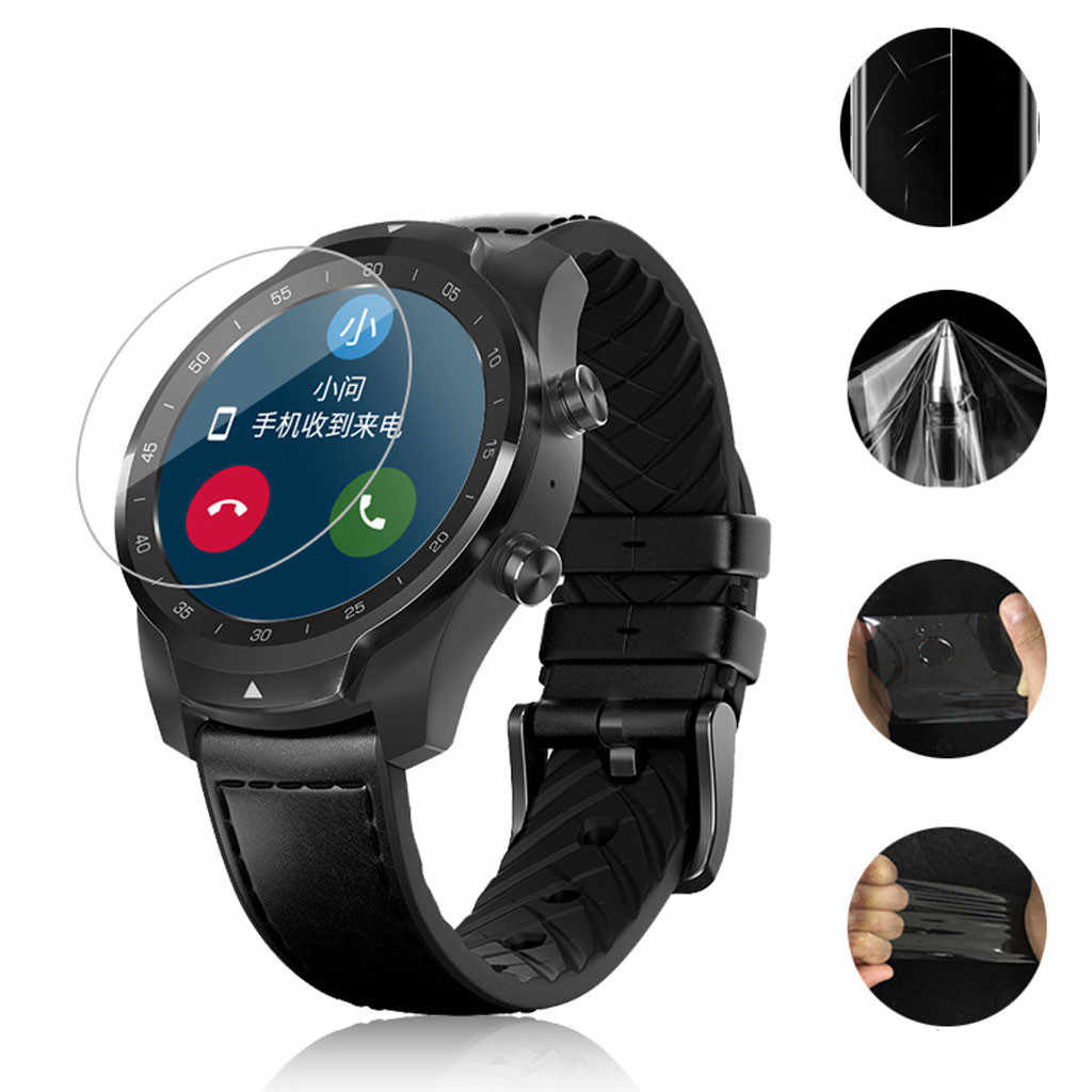 For ticwatch pro Watch Transparent PET Curved Full Screen Protector Film wearable devices smartwatch relogio inteligente