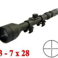 Охотничья оптика 3-7x28 телескопический прицел снайпер прицел винтовка оружие прицелы с креплениями Crosshair для наружного страйкбола