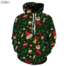 Cat Christmas 3D Digital Print Harajuku Streetwear mens hoodies Hip Hop Women Pull Hoodie Couple S-3XL