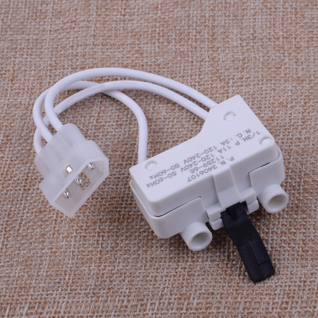 LETAOSK High Quality White Plastic Dryer Door Switch Kit 3406107 3406109 Fit For Whirlpool Kenmore Sears Maytage Roper
