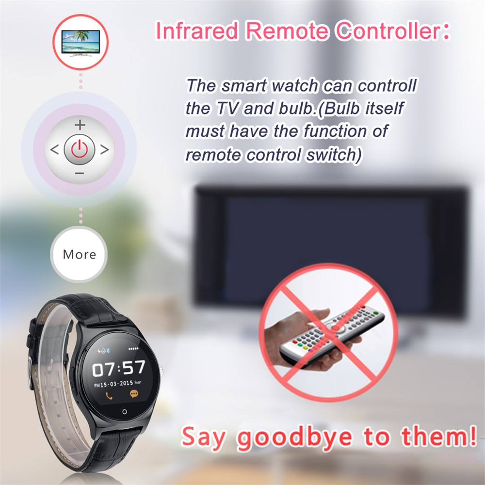 Hot RWATCH R11 Smart Watch Infrared Remote Controller Heart Rate Calls SMS Sedentary Reminder BT Music Pedometer for Android IOS15