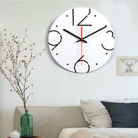 פשוט נורדי שעון קיר אילם דיגיטלי שחור לבן אקריליק שעון קיר חדר שינה סלון מודרני שעון אביזרי עיצוב בית