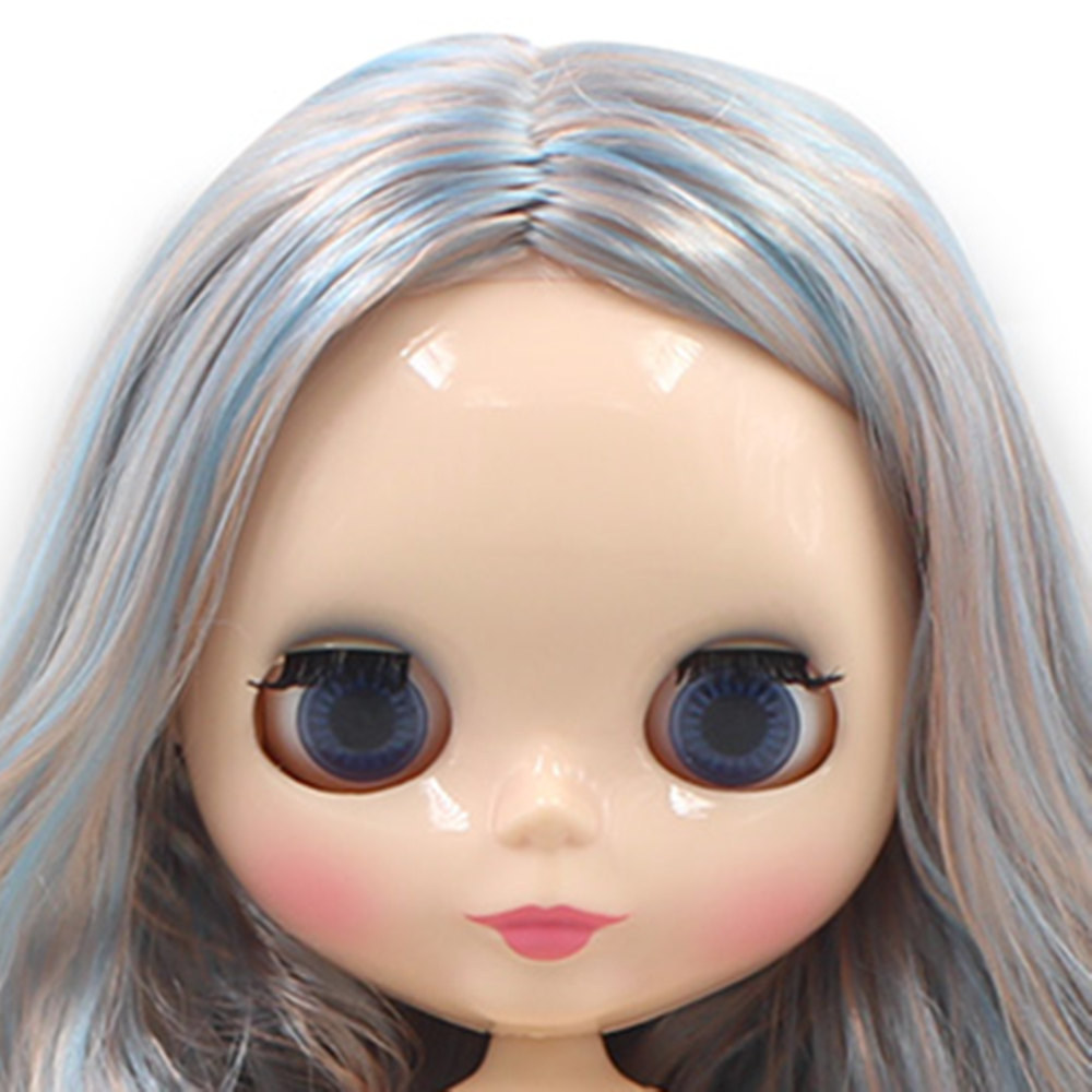 NO.66227/2023 Factory NEO blyth joint doll blue hair toy gift special price on sale suitable makeup in yourself