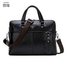 XIYUAN Genuine Leather Men Briefcase Business Messenger man Shoulder Bags male Luxury Laptop Hand Bags Fashion Men's Travel bag
