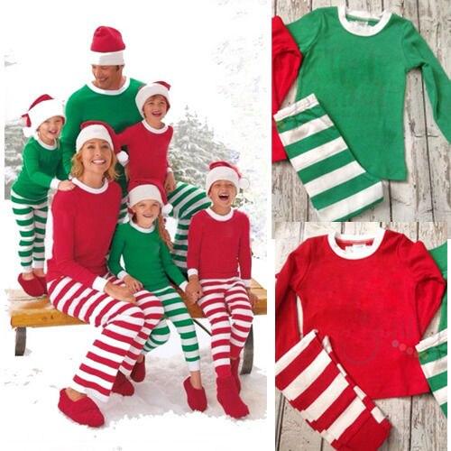 Adult Women Men Matching Family Christmas Sleepwear Pajamas Stripe Cotton Pajamas Sets Hot In Pajama Sets From Underwear Sleepwears On Aliexpress Com