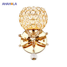 Crystal Modern Led Wall Light for Home Bedroom Glass Crystal Wall Lamps Indoor Modern Wall Lamp Bedroom Light(China)