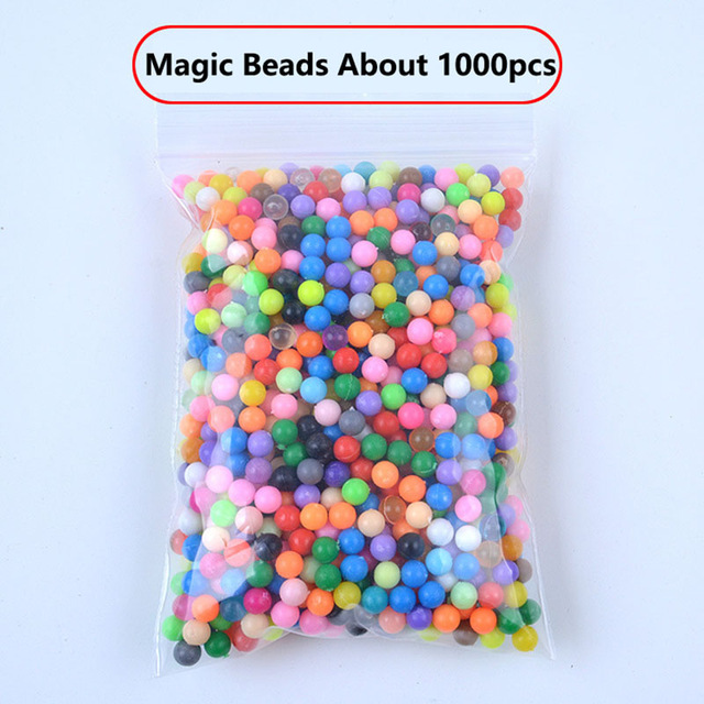 1000pcs  24 Colors 5mm Water Spray Aqua Perlen Magic Beads Educational 3D Puzzles Accessories  for Children Kids funny Toys