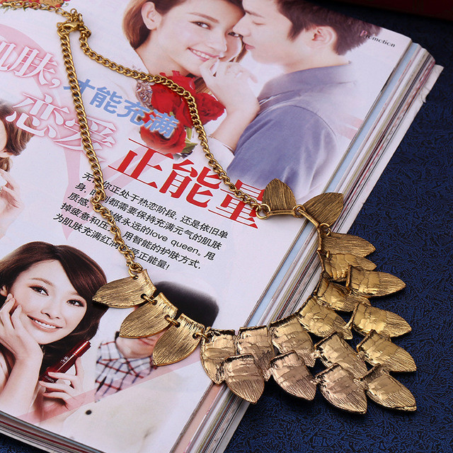 Женское винтажное длинное ожерелье lzhlq многослойное с листьями