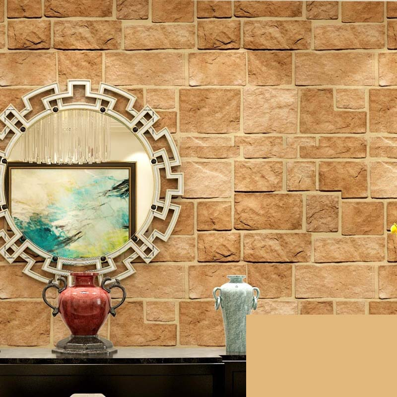 3d stereoscopic stone brick wall paper rolls restaurant clothing store background vinyl wall papers home decor papel de parede in wallpapers from home