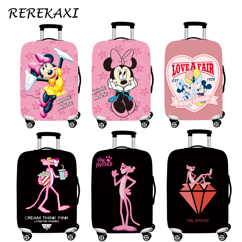 <font><b>REREKAXI</b></font> Cartoon Luggage Cover Suitcase Elastic Protective Covers 18-32 Inch Trolley Trunk Dust Case Cover Travel Accessories image