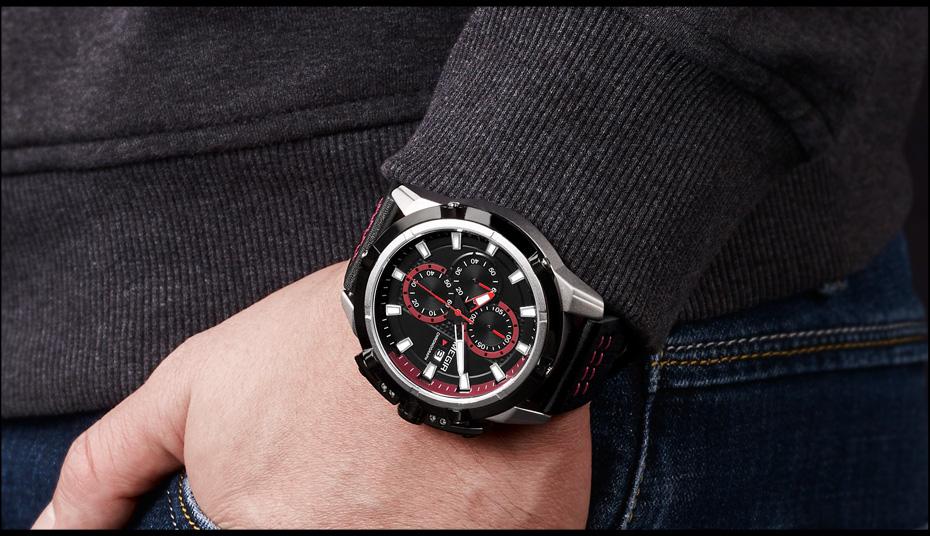 Topdudes.com - MEGIR Creative Sports Fashion Relogio Masculino Luxury Quartz Chronograph Wrist Watch
