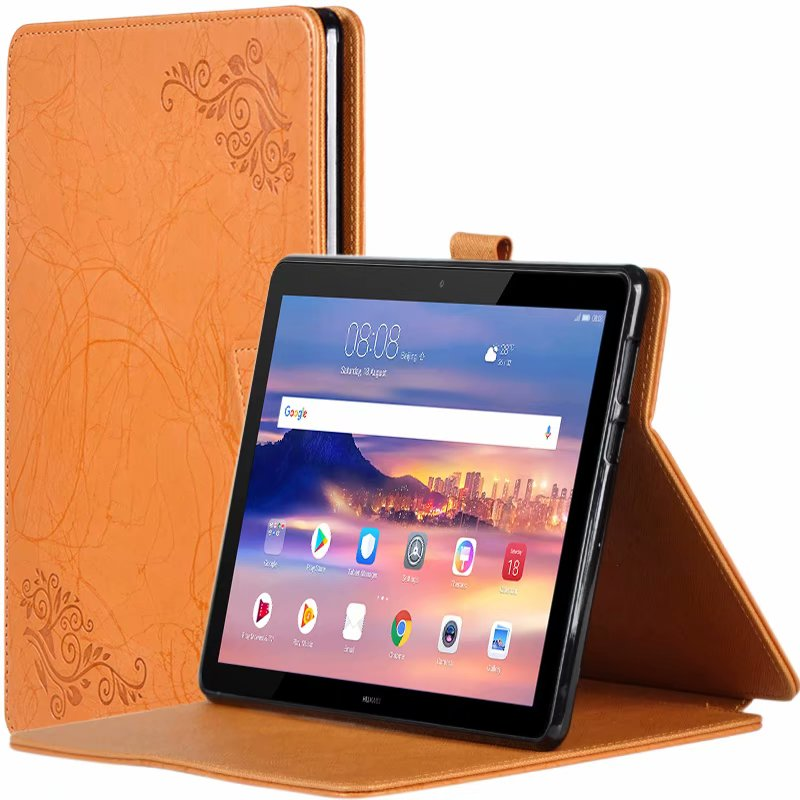 Case For Huawei Mediapad T5 10 Case AGS2-W09 AGS2-L09 AGS2-L03 10.1 Tablet Printing Pattern Stand Cover Protective Shell + Gift