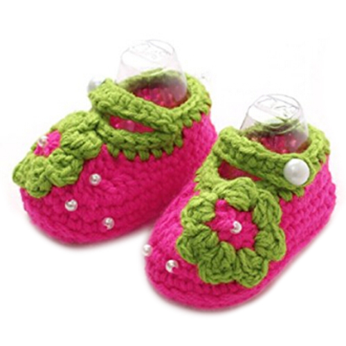 KEOL Best Sale Lovely Baby Girls Crochet Handmade Knit Shoes
