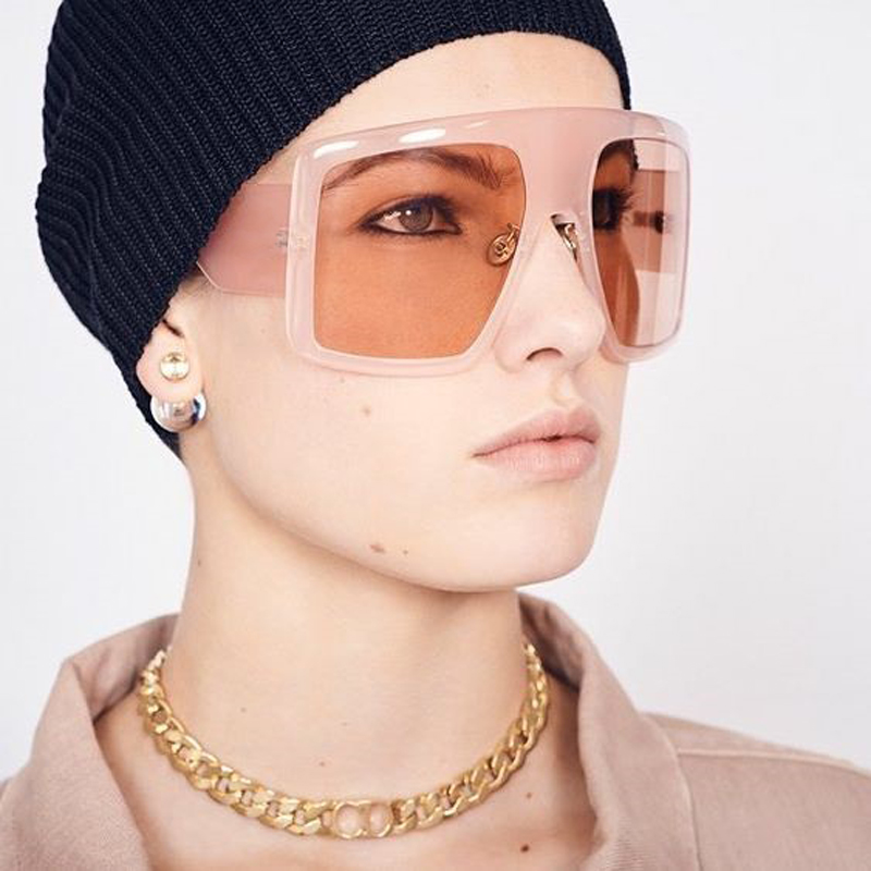 2019 marca oversize óculos de sol mulher exagerada grande quadro moda feminina tons frança designer óculos de sol lunettes