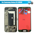 For Samsung For Galaxy S5 G900F LCD Display With Touch Screen Digitizer Assembly With Frame Black/White + Tools Free Shipping