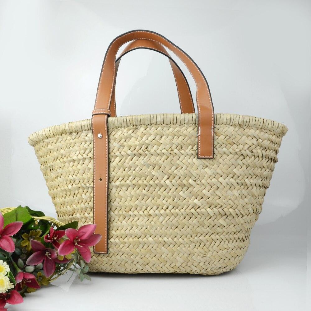 3d88ccd00f50 Купить 2018 Новый Для женщин соломенная сумочка femail Летняя Пляжная сумка  Корзина Shopper Кошелек сумки ручной работы Цена Дешево.
