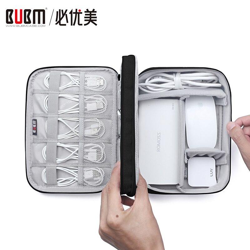 BUBM Elektronik Veranstalter Reise Gadget Zubehör Lagerung Tasche für USB Kabel, Ladegeräte, Festplatte, Power Bank, SD Karte