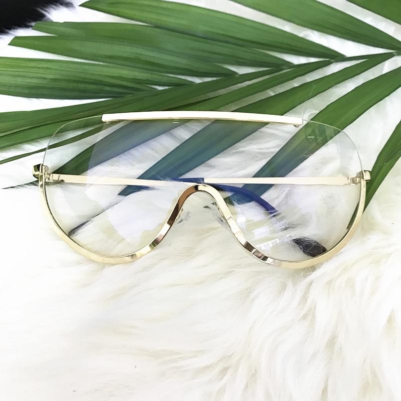 Emosnia Rimless Gold Clear Sunglasses Men Women 2017 Brand Designer Aviator Clear Sunglasses Big Frame Sun Glasses Lunette Femme 3