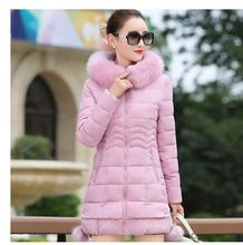 2017 autumn and winter new cotton women in the long section of the winter women's dress Slim cotton-padded jacket winter winter