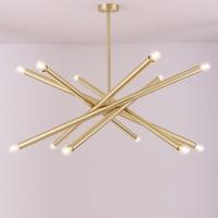 6 Creative All Copper Chandelier Brass Hanging Modern Suspension Light for Living Room Bedroom Dining Art Villa Chandelier No73