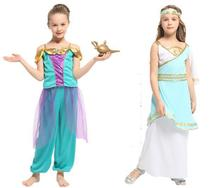Halloween Childrens Arab Indian Princess Costume Magic Aladdin Elegant Performing