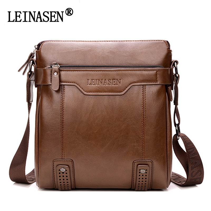 LEINASEN Brand Fashion PU Leather Men's Messenger Bags Portfolio Office Men Bag, Quality Travel Shoulder Bag Handbag for Man подводка lumene nordic chic precision eyeliner 1 цвет 1 черный variant hex name 000000