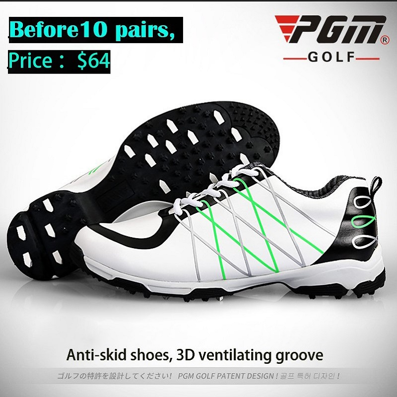PGM Golf Shoes Mens Microfiber Skidproof Patent Waterproof Leather Male Sneakers Sports Shoe Breathable Professional TrainingPGM Golf Shoes Mens Microfiber Skidproof Patent Waterproof Leather Male Sneakers Sports Shoe Breathable Professional Training