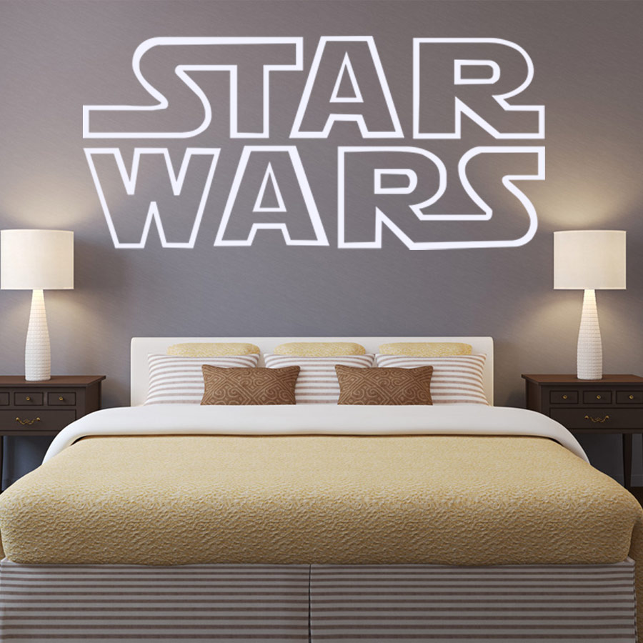 Aliexpress Com Vinyl Giant Star Wars Starwars Logo Quotes Bedroom Wall Stencil Sticker Art Transfer Poster Large Size 80x45cm From Reliable Posters