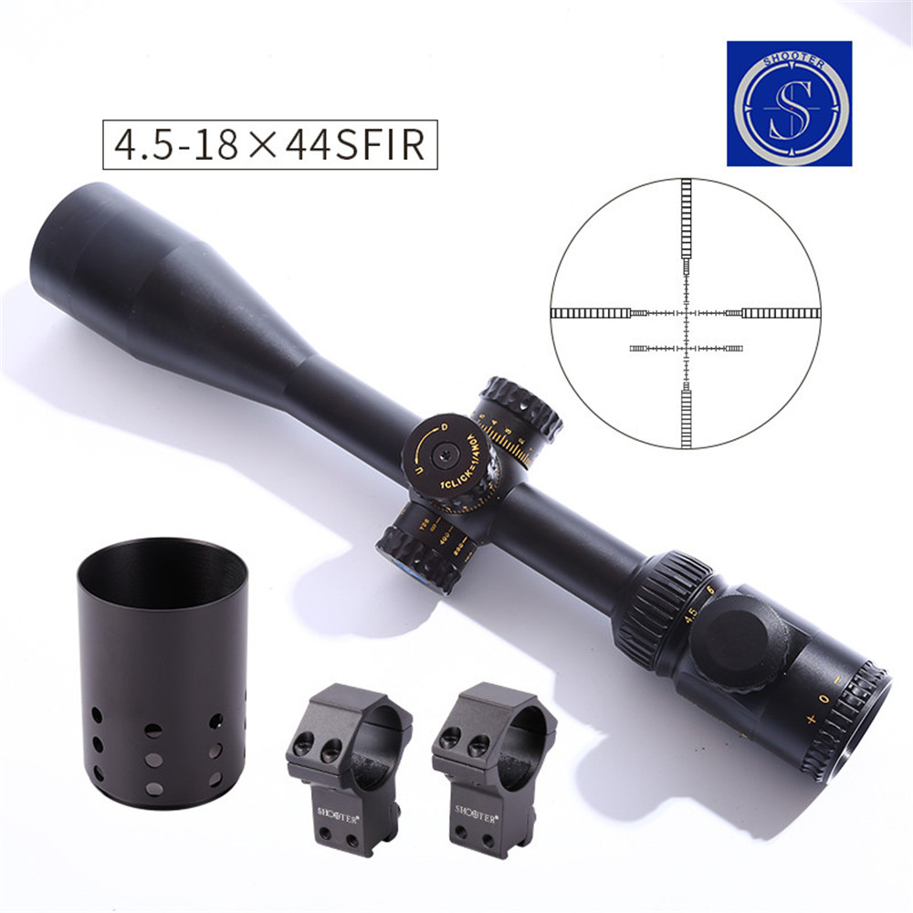 New Tactical Military ST 4.5-18x44SFI Rifle Scope For CS Game Hunting Shooting CL1-0353 canislatrans military two style tactical tm4 5 18x40 4 5x 18x magnification rifle scope for hunting cl1 0287