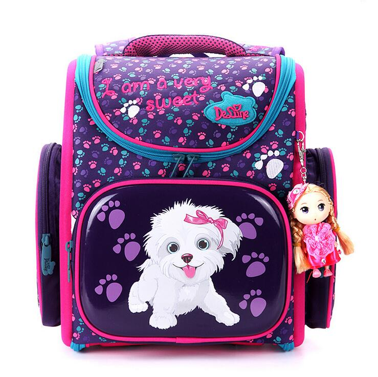 2017 New European Children School Bag Girls Boys Backpack Cartoon Mochila Infantil Large Capacity Orthopedic Schoolbag ableme new 2017 children schoolbag backpack mochilas escolares infantis large waterproof comfotable children school bag backpack