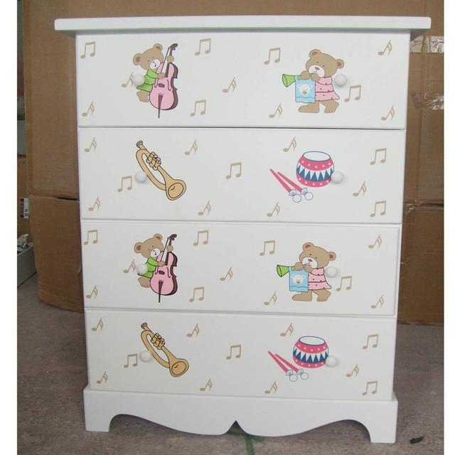 Korean Cartoon Wooden 4 Drawers / Child Wardrobe / Cupboard Childrenu0027s Toys  / Baby Wardrobe / Drawers / Storage Cabinet