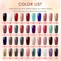 40pcs UV Gel Nail Polish For Nail Soak Off UV Gel Polish Lacquer Nail Varnishes Manicure Pedicure Polish Set Cured UV LED Lamp