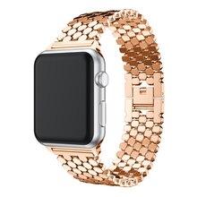 цена на Stainless steel strap for Apple watch band 38mm 42mm iwatch 4 band 44mm 40mm Shine Metal Belt Link bracelet Apple watch 5 4 3 2