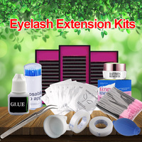 Permanent Make Up Eyelash Extensions Individual False Curl Glue