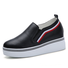 Women Sneakers Fashion Platform Casual Shoes Genuine Leather