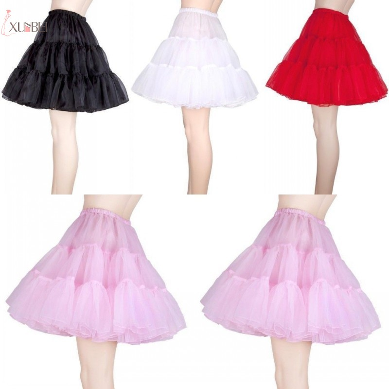 Vintage Short Underskirt Bridal Wedding Dress Petticoat Crinoline Rockabilly Tutu Skirt Slips Wedding Accessories New