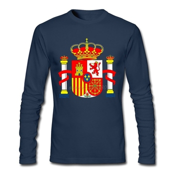 Eenvoudige Stijl Gedrukt Kleding T-shirt Jongen Spanje Embleem Lange Mouwen Kleding Jeugd Ronde Kraag Shirts Online