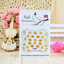 50Sheets Mixed 3D Nail Art Stickers Self Adhesive Embossed Rose Flower Decals Manicure