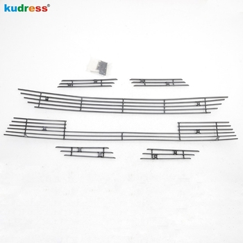 For Toyota RAV4 2013 2014 2015 Stainless Steel Front Grilles Cover Trim Racing Grills Protector Car Auto Accessories 6pcs