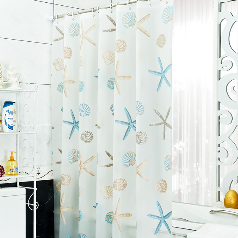 Shower Curtain Bathroom PEVA Beach Shell Waterproof Mildew Proof With 12pcs Hooks Rings In Curtains From Home